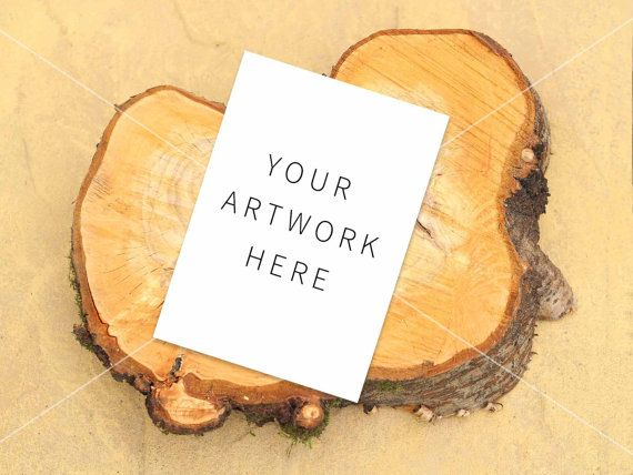Greeting Card Mockup Blank Card Mock rustic log by confettibears