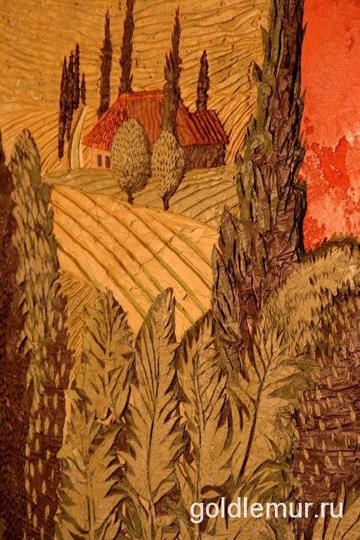 СГРАФФИТО В ИНТЕРЬЕРЕ — САДЫ ТОСКАНЫ Настенные изображения, достоинством которых является их большая стойкость! #декор #рельеф #скульптура #золотойлемур #goldlemur #goldlemur_by #Minsk #Belarus #дизайн #дизайнинтерьера #студиядекора #студиядизайн