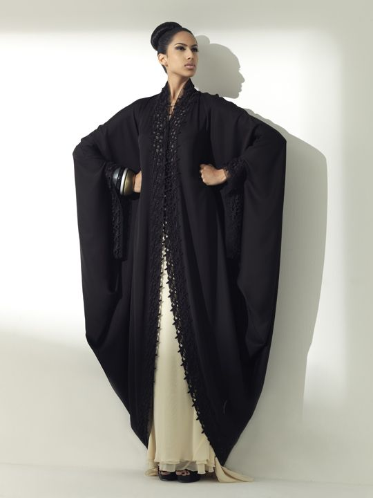 black fashion | Arabic Black Abaya Designs By Arabesque | Dulcet Fashion
