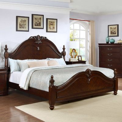 Best Quality Furniture Traditional Panel Bed Size: California King