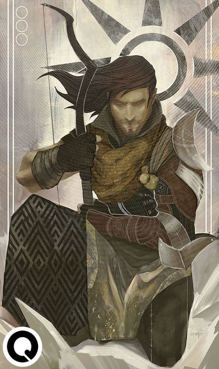 qissus:    'The Hermit' Inquisitor Tarot card commission from @vcook10 ! Thanks for the support :D Lovin' your inquisitor's hair game.  Commission me @ qkhalidah@gmail.com!