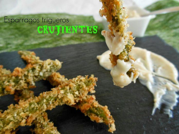 Cocinando en Mislares: ESPARRAGOS TRIGUEROS CRUJIENTES con mayonesa de almendras fritas