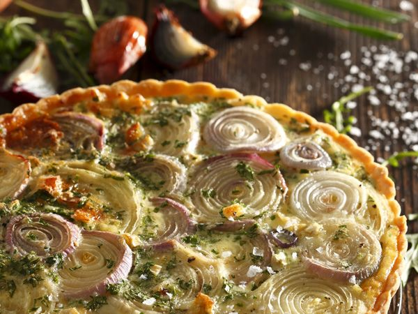 • Onion quiche • A great recipe to help you use up those onions in the basket.
