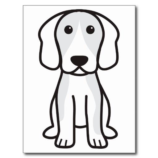 Beagle Dog Cartoon Post Card