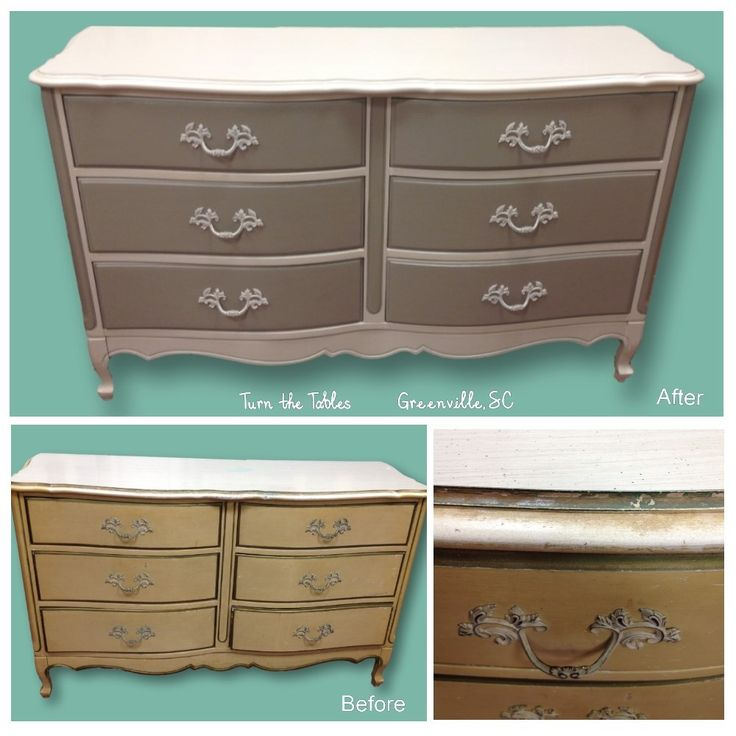 Superb Another Dresser Makeover   This One With FRMP Lino And APC Smoke Signal.  Finished With FRMP Varnish. Hardware Painted Too!