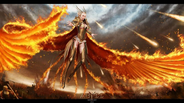 ANGEL FIRE - fantasy girl