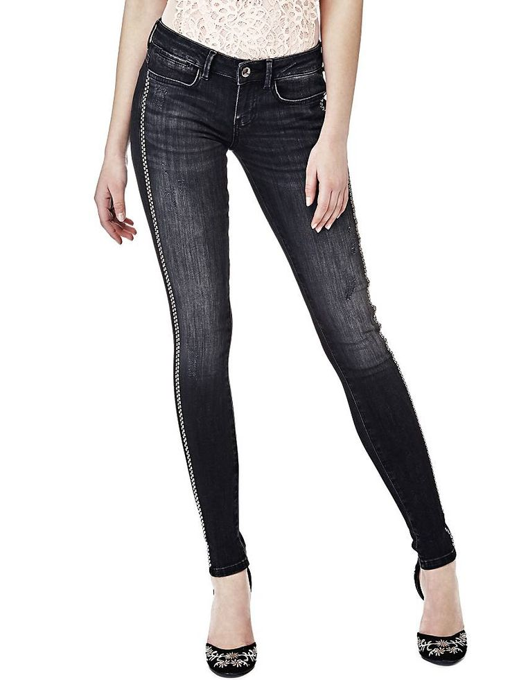 JEGGING APPLICATIONS LATERALES Guess