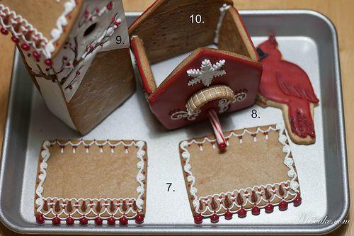 Winter Gingerbread Birdhouse- Casita de Gengibre