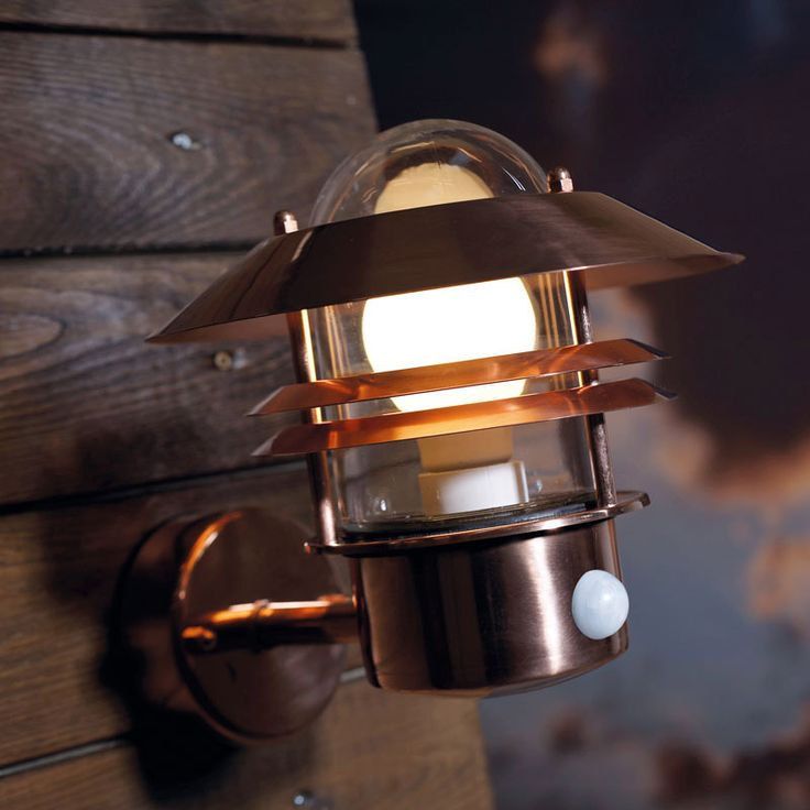 Blokhus pir wall light copper from lyco free next day delivery available buy online today