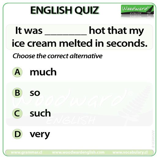 Woodward English Quiz 27 ----- Much vs Many: http://www.grammar.cl/Notes/Much_Many_Lot_Few.htm So vs Such: http://www.grammar.cl/Notes/So-Such.htm