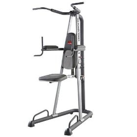 Weider 390 Power Tower, (dip stands, dip station, pull up bar, chin up, chin up bar, chin-up, fitness power tower, power stands, power tower, pull ups)