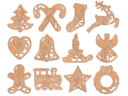 'Olde Christmas' Fretwork Ornaments  have this pattern