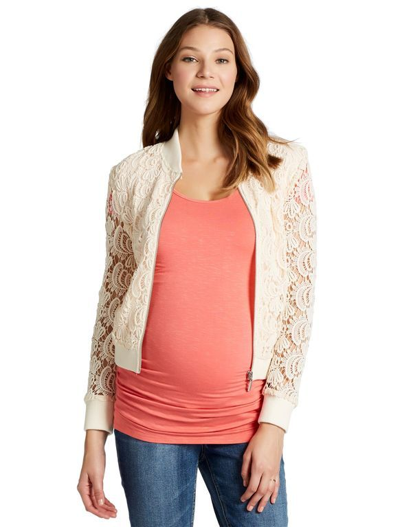 Jessica Simpson Lace Maternity Jacket