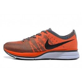 Nike Flyknit Trainer+ Herre Sko Oransje Svart | Nike billige sko | kjøp Nike sko på nett | Nike online sko | ovostore.com