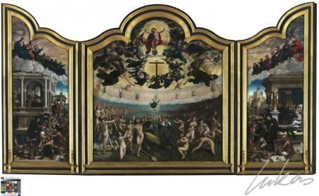 Van Orley, Bernard, - Le jugement dernier et les sept oeuvres de miséricorde - Musée royal des beaux-arts, Anvers
