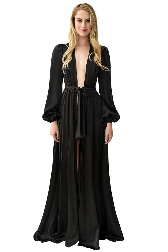 Black Floor Length Robes