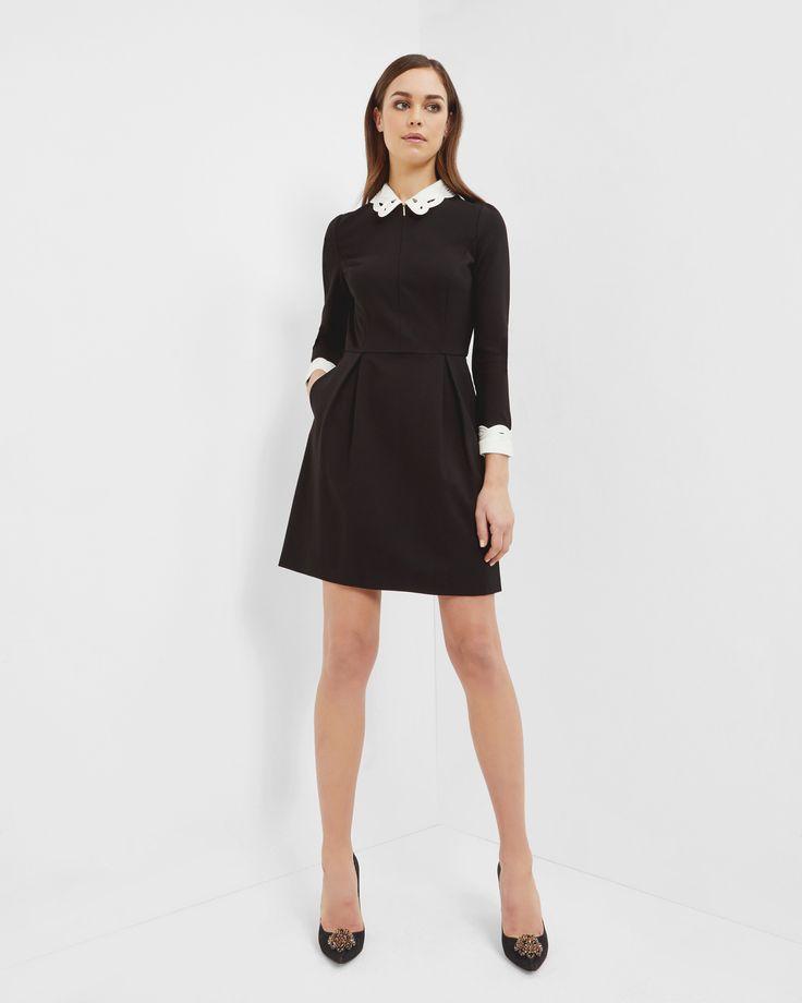 Black dress zipper front 4 link