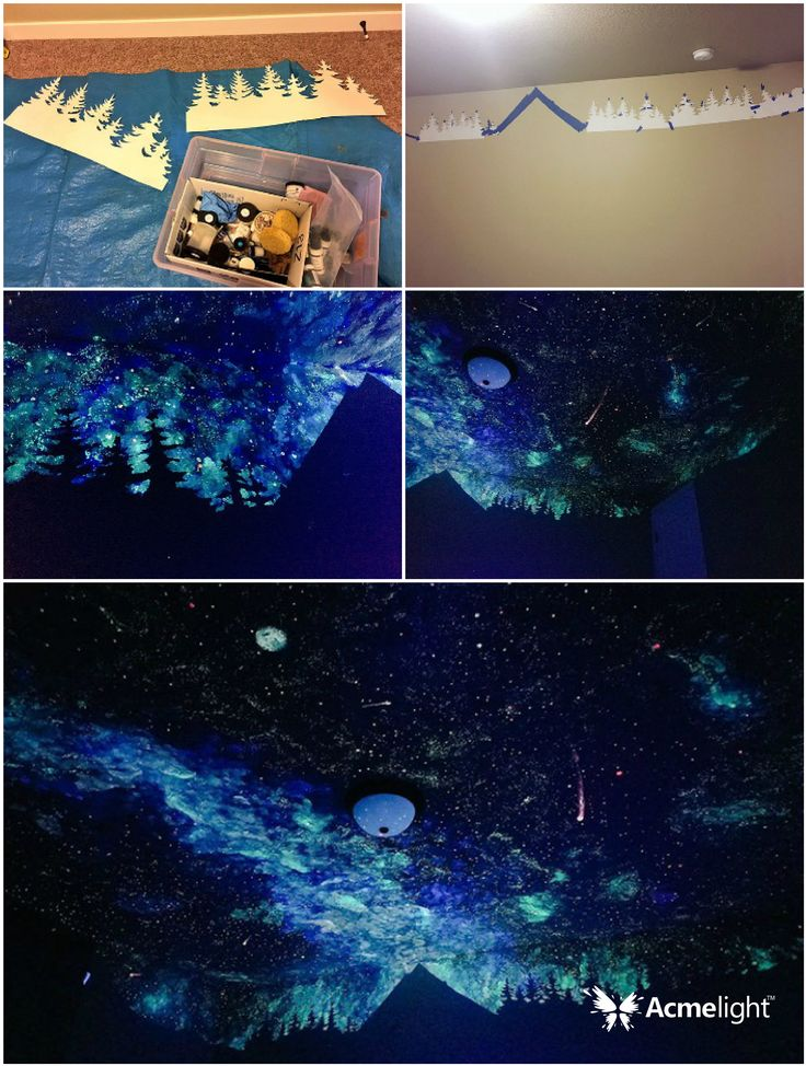 Звёздное небо для спокойного сна малыша. Светящаяся краска для стен Acmelight Interior.