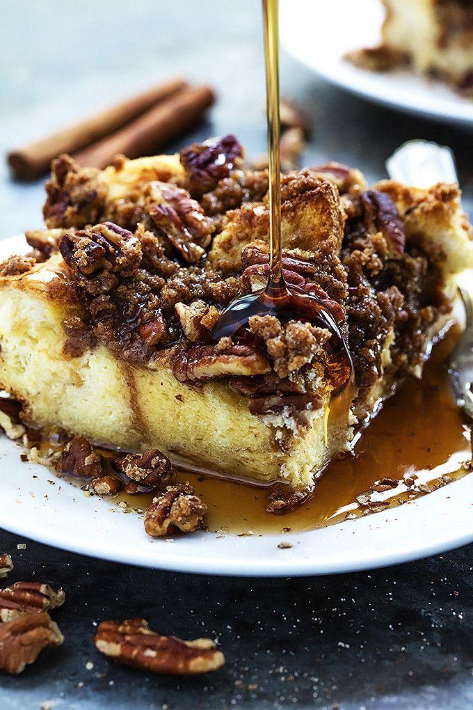 Overnight Cinnamon Pecan French Toast Casserole