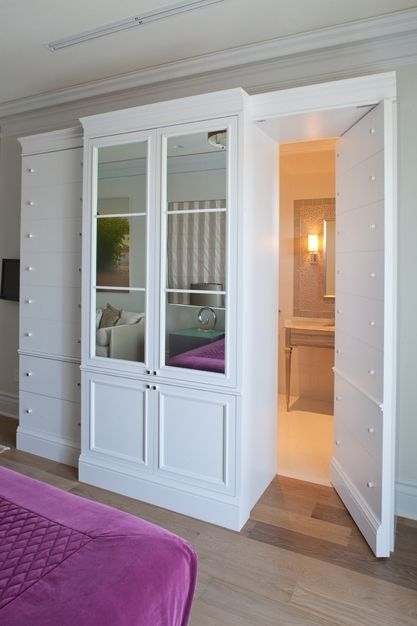 Hidden room! Never thought of incorporating it into bedroom built-ins before! So fun!