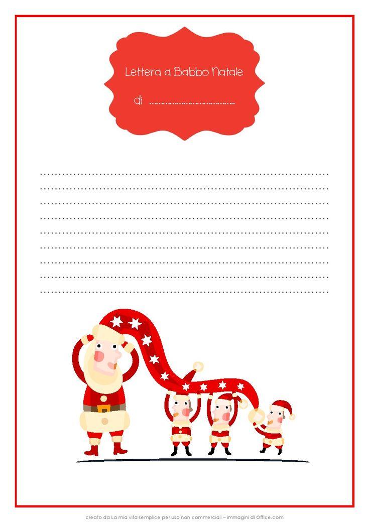 La lettera a Babbo Natale (pdf da stampare) - La mia vita semplice