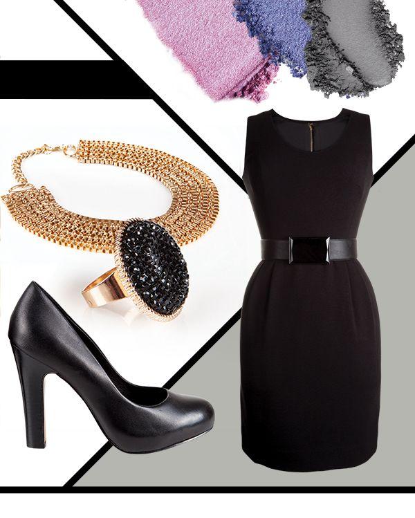 Truco de esta temporada otoño-invierno: encuentra los complementos perfectos para tu #LittleBlackDress! Para un look de día refinado, combínalo con tacones de moda, un anillo llamativo, un cinturón que estilice tu figura.