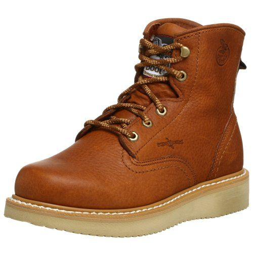 "Georgia Boot Men's 6"" Wedge Work Boot,Barracuda,9 M - http://authenticboots.com/georgia-boot-mens-6-wedge-work-bootbarracuda9-m/"