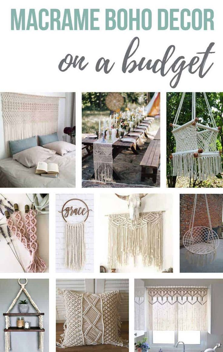 Budget Friendly Macrame Finds For Boho Decor