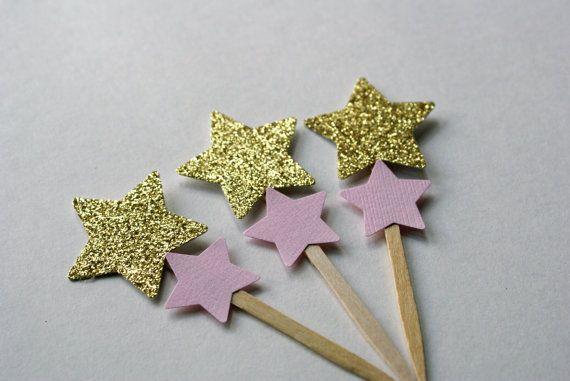 Twinkle Twinkle Little Star Cupcake Topper by PixieDustPartyPaper