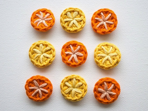 How to: Crocheted Buttons #DIY #yarn #tutorial