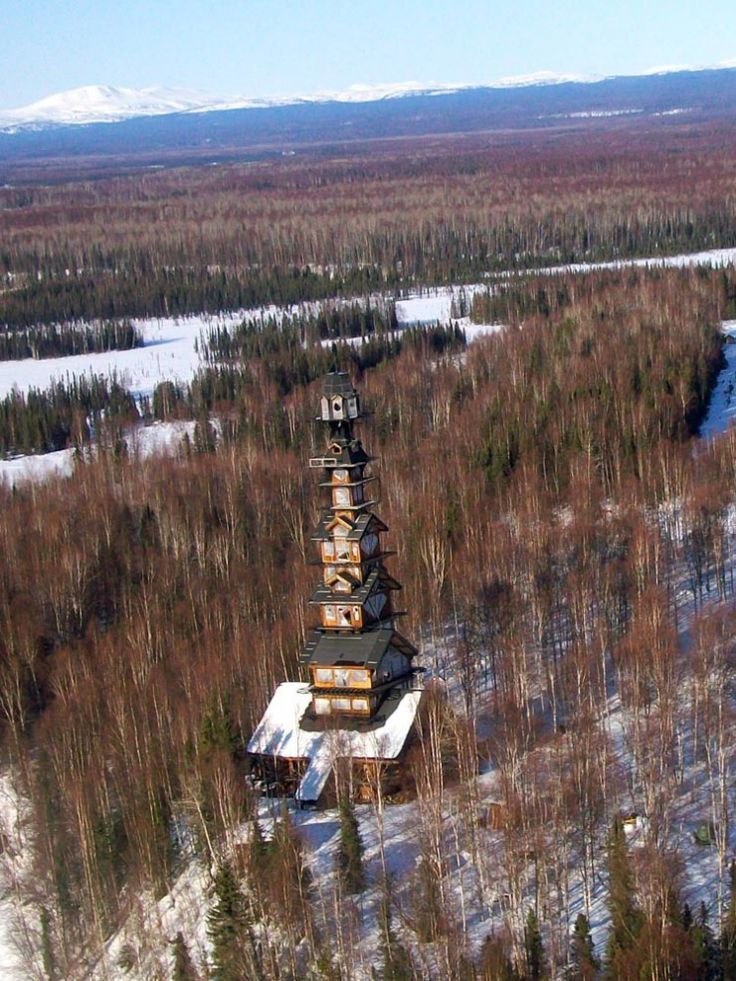 """The """"Dr. Seuss House"""" Towers Over the Alaskan Forest"""