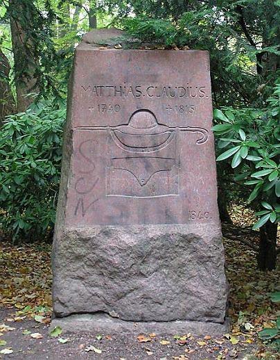 Hamburg/ Wandsbek: Claudius-Gedenkstein