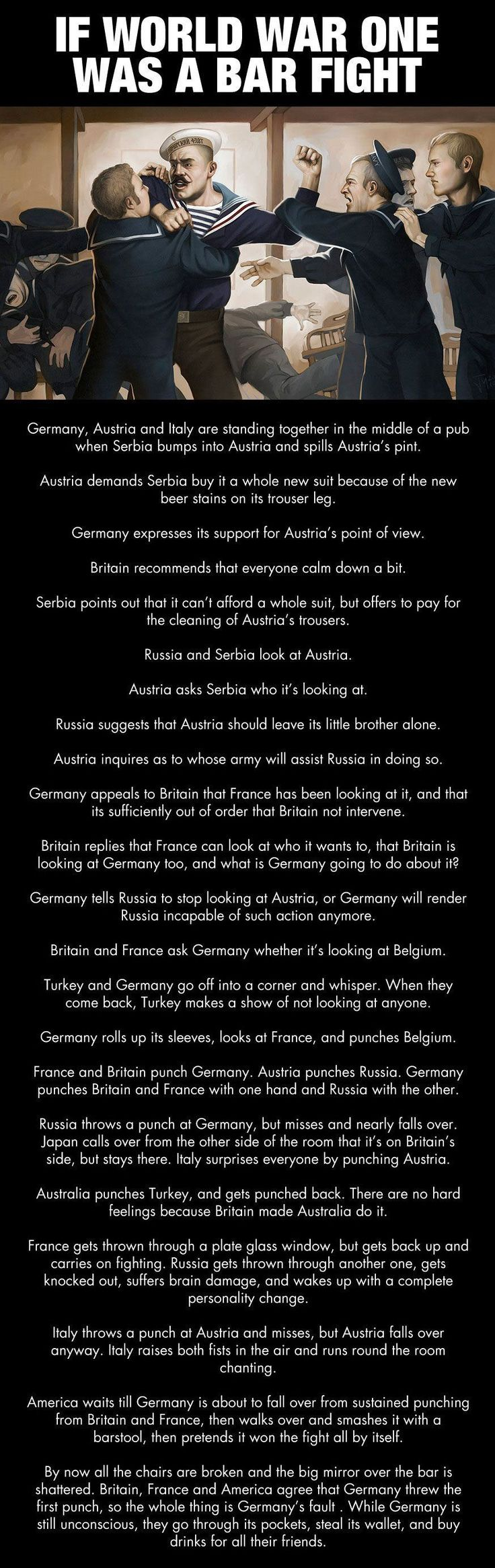 If World War 1 was a bar fight...