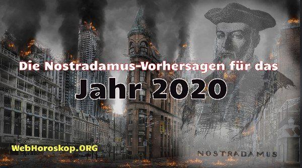 prophezeiung nostradamus für 2020