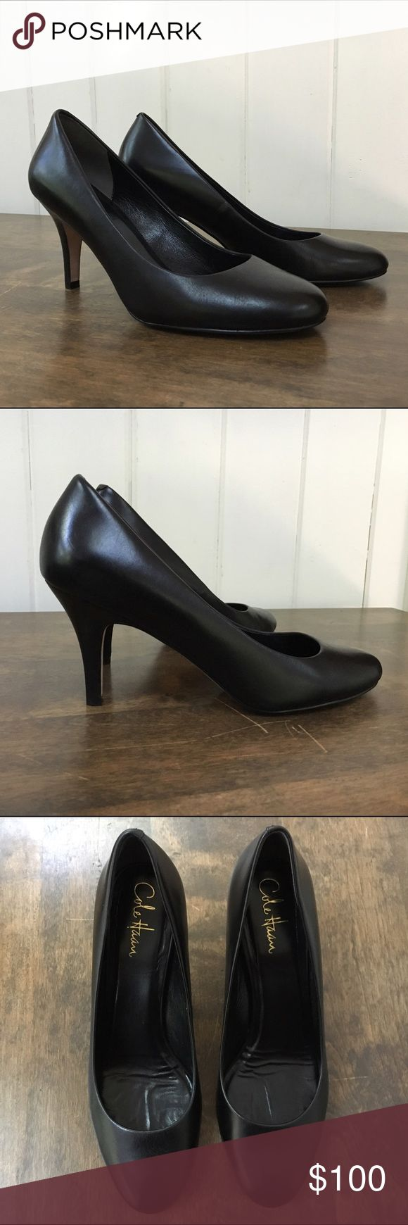 """Cole Haan Air Lainey Pump Cole Haan Air Lainey Pump with Nike Air technology. 0.75cm / ~3"""" heel.  Size 10 (regular width).  Black leather.  Great condition; only worn a few times.  Heels come with original box and dust bag. Cole Haan Shoes Heels"""