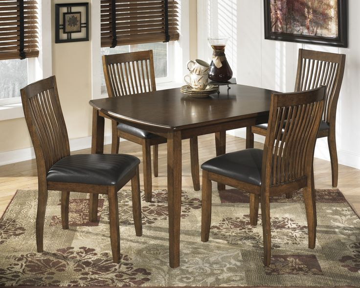 Stuman Rectangular Dining Room Table 4 Side Chairs By Signature Design Ashley Get Your At