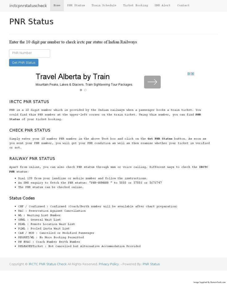 The  Best Check Pnr Status Ideas On   Railway Pnr