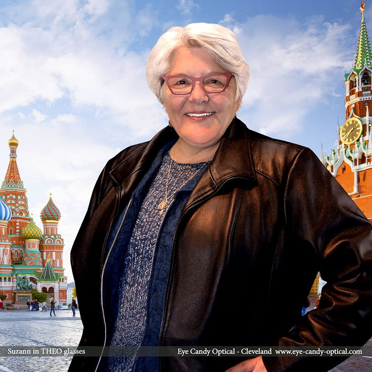 Suzann lifts the iron curtain and visits Moscow wearing her new designer glasses by Theo.  Eye Candy is your local travel agency for the finest European Eyewear Fashion destinations! Eye Candy Optical Cleveland - The Best Glasses Store! (440) 250-9191 - Book an Eye Exam Online or Over the Phone www.eye-candy-optical.com
