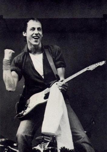 Mark Knopfler of Dire Straits. He opened for Dylan.