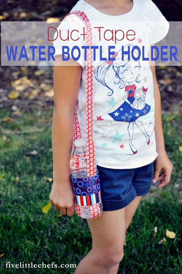 This DIY patriotic duct tape water bottle holder is perfect for 4th of July parades, hikes or any activity that requires you to stay hydrated. Crafts kids can make are great to keep them busy, especially in the summer.