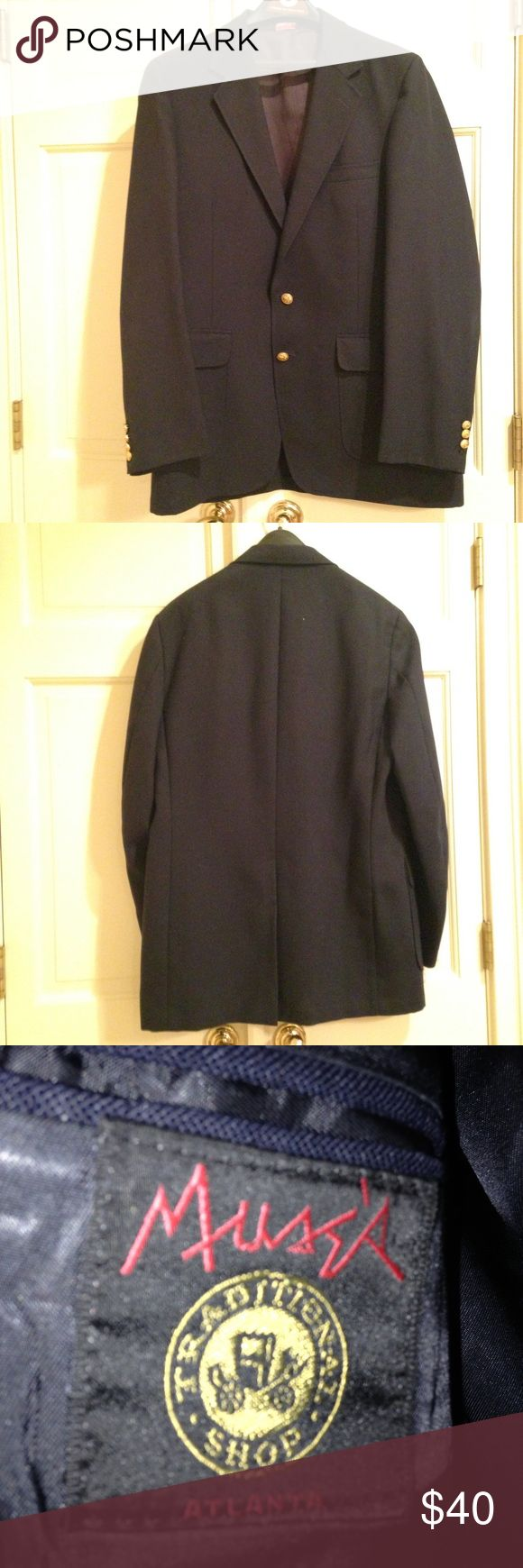 Men's Navy Blazer Men's navy blazer with gold buttons, great condition! Suits & Blazers Sport Coats & Blazers