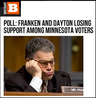 The poll shows Franken losing support among the critical block of Independent voters.  49% of Independent voters want to see Franken replaced compared to only 43% of Independent voters who want to see Franken re-elected.  Friends, our fight to Defeat Al Franken is gaining momentum, and we need your support to help ensure that Al Franken is booted from office once and for all.