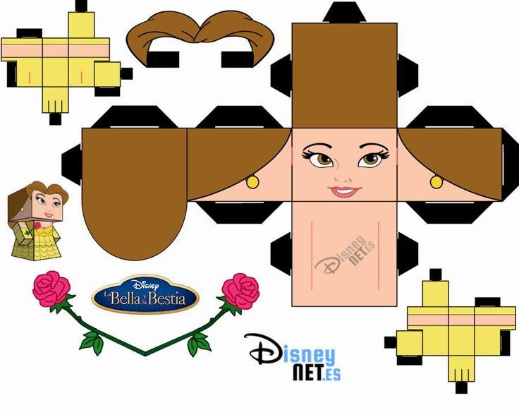 Muñeca recortable de #Bella #labellaylabestia #disney #cubeecraft #crafting #manualidades