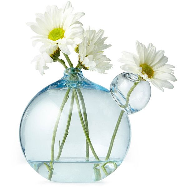 Gary Bodker Designs Mini Bubble Vase ($28) ❤ liked on Polyvore featuring home, home decor, vases, flowers, fillers, random, glass, glass vases, glass home decor and mini vases
