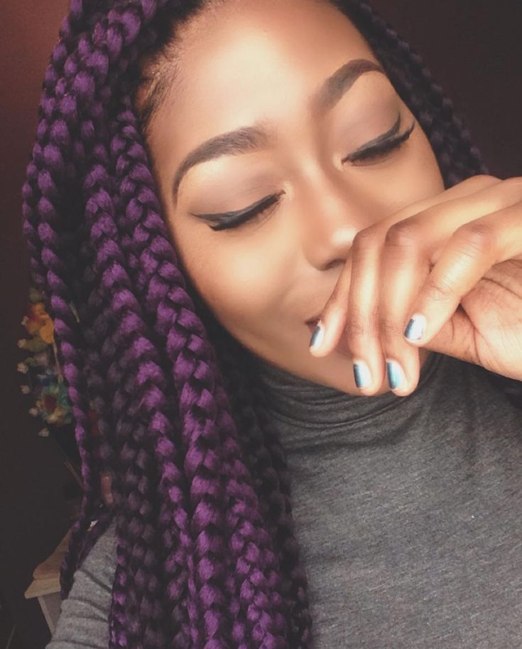25 beautiful colored box braids ideas on pinterest coloured box purple braids x pretty makeup pmusecretfo Image collections