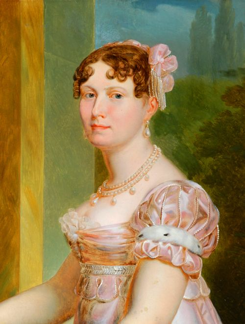 Portrait of Catherine of Wurtemberg, Wife of Jerome Bonaparte, King of Westphalia, 19th Century. Tumblr