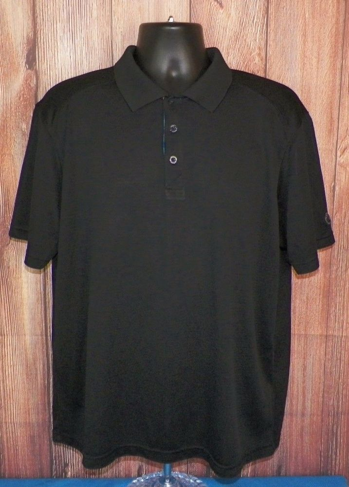 St. Andrews of Scotland Mens Short Sleeve Golf Polo Shirt Black Size XL #1 #StAndrewsofScotland #PoloRugby
