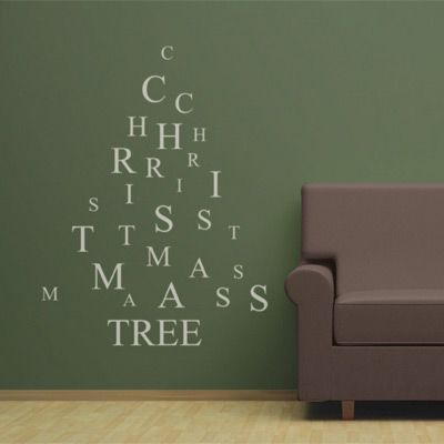 Amazing Christmas tree wall decals. Such a good idea! Go Aussies!