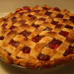 Cherry pie is just about the easiest fruit pie to make. Sour cherries -- the kind you need for pie -- are rarely available fresh or frozen, so the canned variety usually is the only option for most cooks. Not only do canned cherries make good pies, but there's also no peeling, coring, seeding, pitting or slicing the fruit. Just drain, dump, sweeten, flavor and thicken, and you're in business.