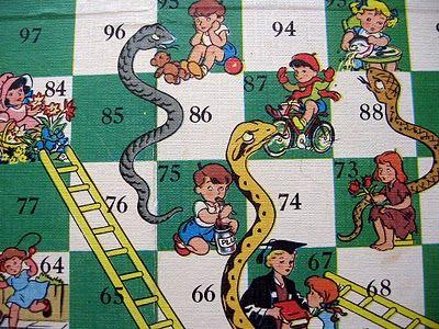 Vintage Snakes Amp Ladders Kids Rugs Personalised